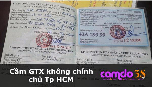 Cầm gtx không chính chủ tp HCM